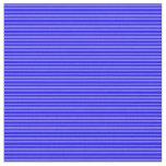 [ Thumbnail: Blue and Medium Slate Blue Colored Stripes Fabric ]