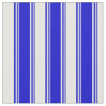 [ Thumbnail: Blue and Mint Cream Striped/Lined Pattern Fabric ]
