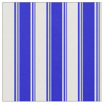 [ Thumbnail: Blue and Mint Cream Stripes Pattern Fabric ]