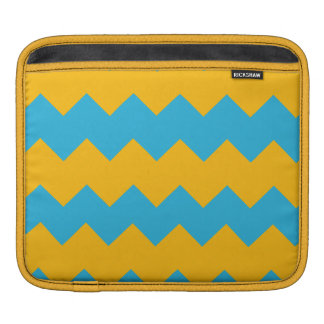 Blue and Mustard Chevron Sleeve For iPads