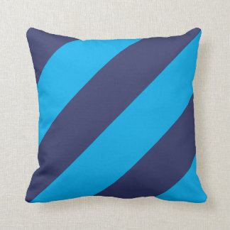 "Blue and Navy Blue Striped Pillow 16"" x 16"""