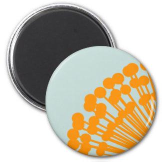 Blue and Orange 2 Inch Round Magnet