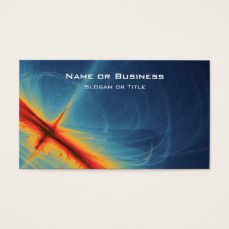 Blue and Orange Abstract Business Card