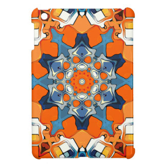 Blue And Orange Abstract iPad Mini Cases