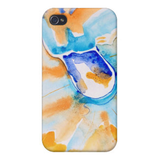 Blue and Orange Abstract iPhone 4 Case