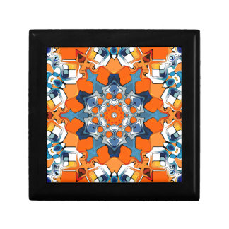 Blue And Orange Abstract Keepsake Boxes