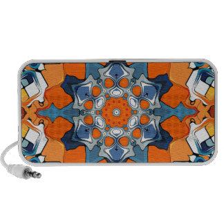Blue And Orange Abstract Mini Speakers