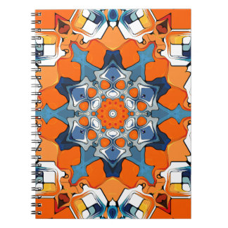 Blue And Orange Abstract Note Books