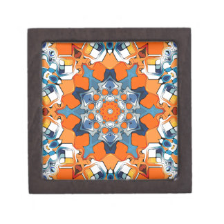 Blue And Orange Abstract Premium Gift Box