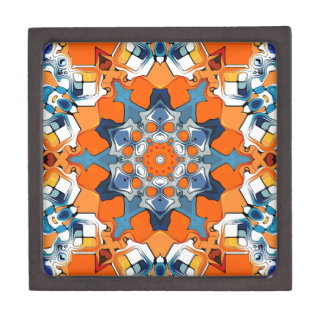 Blue And Orange Abstract Premium Gift Boxes