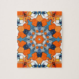 Blue And Orange Abstract Puzzle