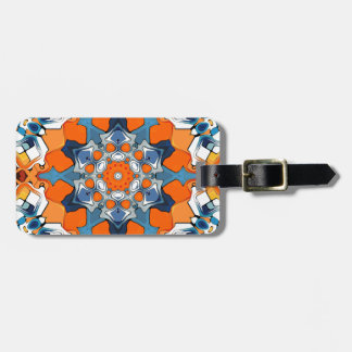 Blue And Orange Abstract Travel Bag Tag