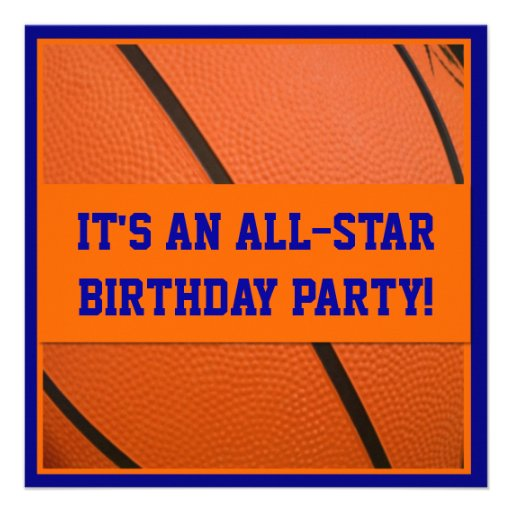 Personalized Basketball birthday party Invitations – Basketball Party Invitations
