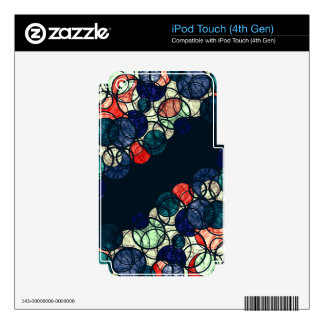 Blue and orange bubbles decal for iPod touch 4G