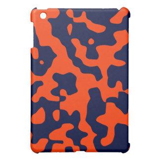 Blue and Orange Camouflage  iPad Mini Cases