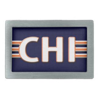 Blue and Orange Chicago Belt Buckle