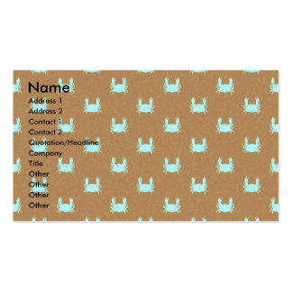 Blue and Orange Crab Pattern Business Card Templates