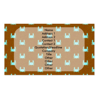 Blue and Orange Crab Pattern Business Cards