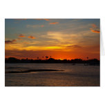 Blue and orange crystal sky greeting card