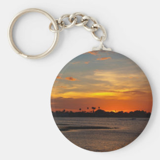 Blue and orange crystal sky keychain