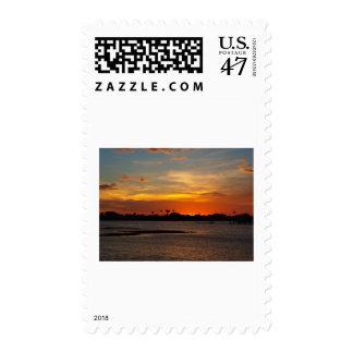 Blue and orange crystal sky postage