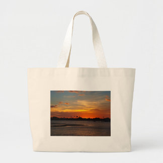 Blue and orange crystal sky tote bag