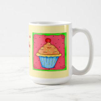 Blue and Orange Cupcake Mug