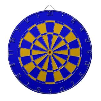 Blue and orange dartboard