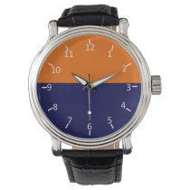 Blue and Orange Den Wrist Watch