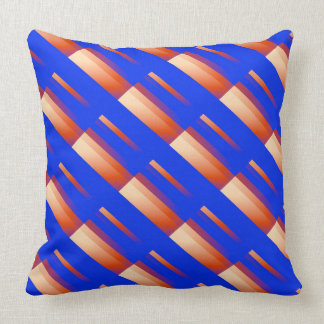 Decorative Pillows Orange And Blue : Orange And Blue Striped Pillows - Decorative & Throw Pillows Zazzle