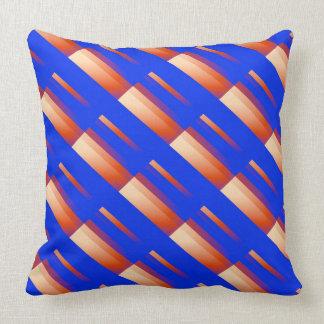 Decorative Pillows Orange And Blue : Orange And Blue Striped Pillows - Decorative & Throw Pillows Zazzle