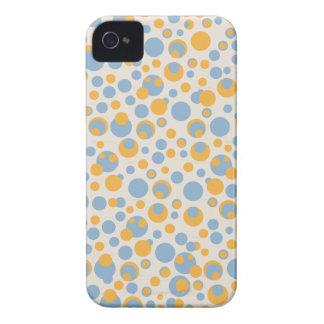 blue and orange dots Blackberry bold case