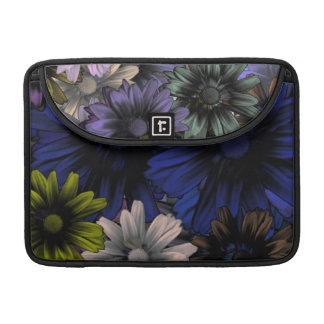 Blue and orange floral MacBook pro sleeves