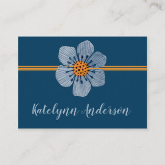 Blue and Orange Flower General Business Cards