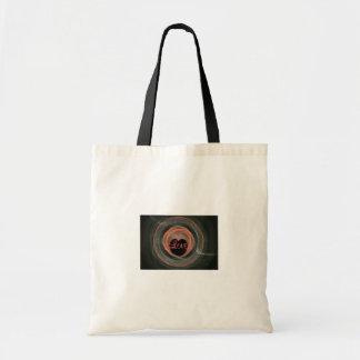 Blue and Orange Fractal Art Encircled Heart Tote Bag