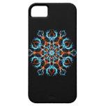 Blue and Orange Geometric iPhone 5 Cases