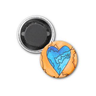 Blue and Orange Heart Magnet