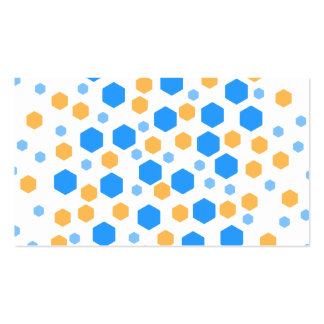 Blue and Orange Hexagons. Double-Sided Standard Business Cards (Pack Of 100)