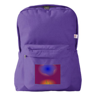 Blue and Orange in Pure Grape Juice American Apparel™ Backpack