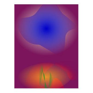 Blue and Orange in Pure Grape Juice Postcard