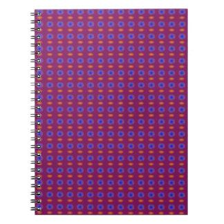 Blue and Orange in Pure Grape Juice Spiral Notebook