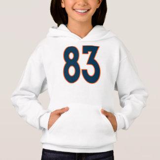 Blue and Orange Jersey Number 83 Hoodie