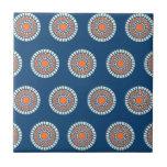 Blue and Orange Mandala Decorative Circles Tiles