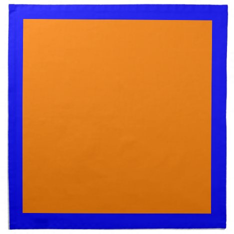 Blue and Orange Napkins