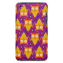 Blue and Orange Owl Pern Barely There iPod Case
