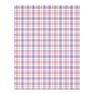 Blue And Orange Plaid Faded Background Paper Letterhead Design