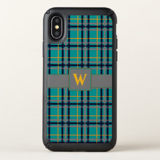 Blue and Orange Plaid Speck Phone Case