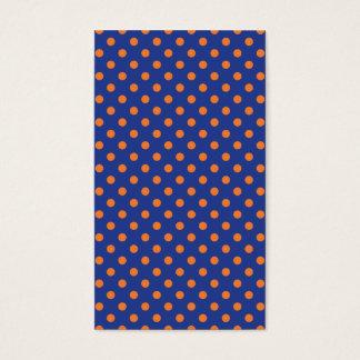 Blue and Orange Polka Dots Business Card