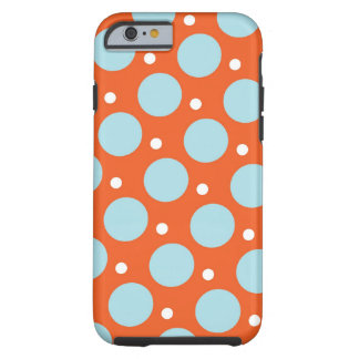 Blue and Orange Polka Dots Pattern Gifts iPhone 6 Case