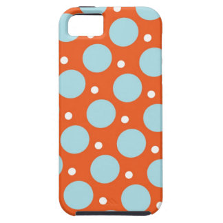 Blue and Orange Polka Dots Pattern Gifts iPhone SE/5/5s Case